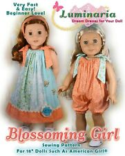 """American Girl Doll Dress Clothes Pattern 18"""" Doll Blaire Grace PDF Coat Hat"""