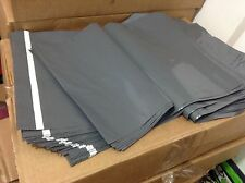 "100 BAGS - 14"" x 21"" STRONG POLY MAILING POSTAGE POSTAL QUALITY SELF SEAL GREY"