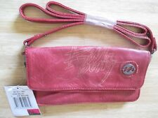 NEW* Billabong Clutch PURSE HANDBAG BAG HOBO Crossbody Red Faux Leather