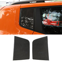 Carbon fiber Rear Triangular Window Glass Plate Cover For Renegade 2015-2019
