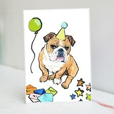 Old English Bulldog Carte d/'anniversaire-Bulldog-Carte BULLDOG ANGLAIS Carte-A6