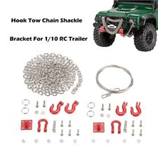 1/10 RC Trailer Hook Tow Chain Shackle Bracket for Axial SCX10 TF2 Crawler - US