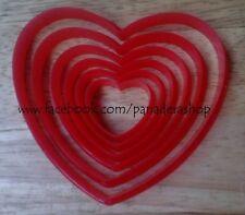 6 Pcs Bento Heart Cookie Fondant Gum Paste Cutter Plunger Set