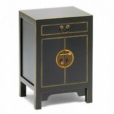 Made to Order Golden Dragon Oriental Painted Solid Wood Black & Gold Cabinet S