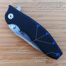 Zero Tolerance ZT0562 562CF ZT Knife 11PC Titanium Screw Set inc LBS Washer BLUE