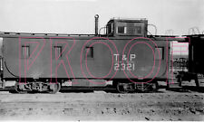 Texas & Pacific (T&P) Caboose 2321 at Toynah, TX - 8x10 Photo