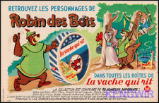 """Document ancien Publicité  Pub Ad  """" VACHE QUI RIT """"  Années 60  Robin des Bois"""