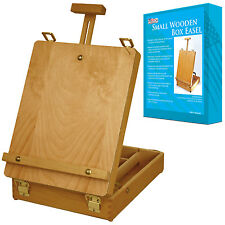 "US Art Supply 17 1/2"" Tall Wood Artist Sketchbox Tabletop Storage Easel"