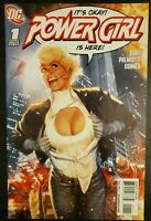 Power Girl #1 Adam Hughes variant Cover DC Amanda Conner 2009 1st Print