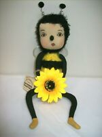 "Gallerie II ""Bea"" Bumble Bee - Gathered Traditions Soft Sculpture by Joe Spencer"