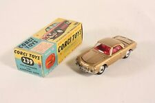 Corgi Toys 239, Karmann Ghia, gold color and red interior, Mint in Box,  #ab1720