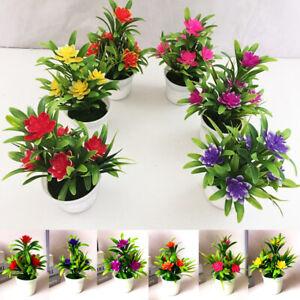 1PC Artificial Flower Garden Wedding Fake Plants Bonsai Mini Bonsai Home Decor