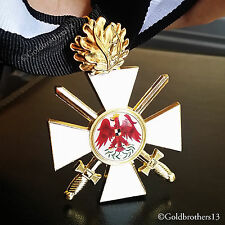 Order Of The Red Eagle 2nd Class + 24k Gold Plated Oak Leaf WW1 German Repro