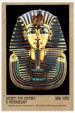 Deathmask of King Tutankhamun PHOTOGRAPH CARD CDV VINTAGE A++ Reprint