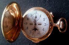 CHOPARD & FAVRE FINA Chronographe 1/4 REPETITION Montre à gousset 18k Gold vollkalender