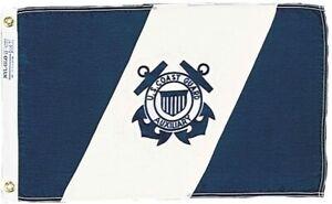"Annin US Coast Guard Auxiliary Flag NYL-GLO 15""x24"" Made USA  Free Priority Ship"