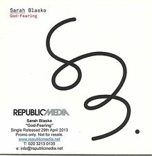 "SARAH BLASKO ""God-Fearing"" 2013 UK 1-track promo CD"