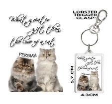 Gato Persa KEYRING. personalizable. Posavasos Y Taza a juego disponibles