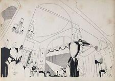 CHAN HENRI DESSIN ORIGINAL ART DÉCO 1922