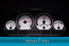 Disco TACHIMETRO PER BMW e46 Tachimetro Benzina o Diesel CARBON BIANCO 3058 TACHIMETRO