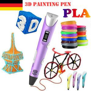 3D Stift 3/10Farben 3D-Druckstift 3D Stifte Set Printing Pen PLA Filament Kinder