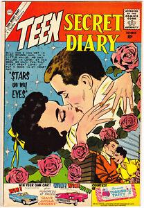 Teen Secret Diary 7 VG+ (4.5) Romance Book 1960 Charlton Comics