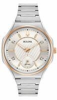 Bulova Women's Quartz Diamond Accent Sapphire Crystal 40.5mm Watch 98P182