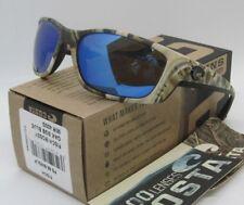 COSTA DEL MAR mossy oak camo/blue mirror FISCH POLARIZED 400G sunglasses! NEW!