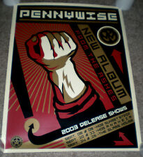 Rare Pennywise Shepard Fairey Poster Obey From the Ashes CD/Record Release Show