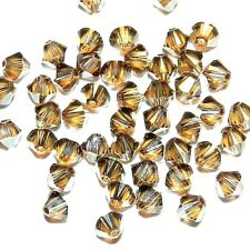 SCB3111f Bronze Shade 4mm Xilion Faceted Bicone Swarovski Crystal Beads 48pc
