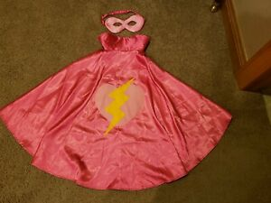 Gymboree Costume Superhero Girl Pink Cape size XS/S 4-6 - Halloween Dress Up