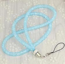 Creative Crystal Lanyard Necklace ID Badge Phone Keychain Glitter Cord Strap Hot
