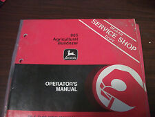 John Deere Tractor Operator'S Manual 865 Agricultural Bulldozer Issue K1