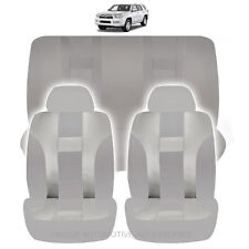 NEW ALL GRAY POLYESTER AIRBAG READY SEAT COVERS COMBO 6PC SET FOR SUVS 1128