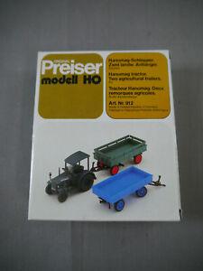 Preiser Modèle 912 Hanomag Remorqueur Remorque H0 (K17)