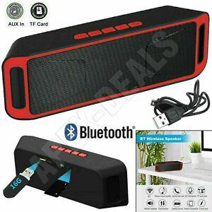 LOUD Bluetooth Portable Speaker Wireless Stereo Bass USB/TF/FM Mini Car Speakers