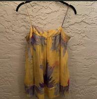Diane Von Furstenberg Women's Size 0 Top Cami Floral 100% Silk Spaghetti Straps
