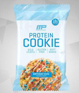 MusclePharm Protein Cookie Birthday Cake 12x52g - MHD 28.02.2021