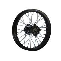 HMParts Pit Dirt Bike Cross Alu Felge eloxiert 14 Zoll hinten schwarz Typ2 15mm