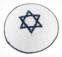Religioso Kipà tejida clássica Yarmulke judío tradicional Estrella David Israel