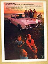 1967 Buick GS340 GS 340 car photo vintage print Ad