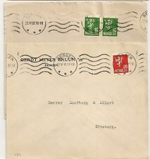 2 COVERS  NORGE NORVEGE BERGEN TO GOTEBORG and STOCKHOLML. L434