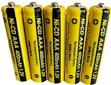 5 x AAA Rechargable Batterys 1.2V 400mAh Triple A Electronic Devices Phones Toys
