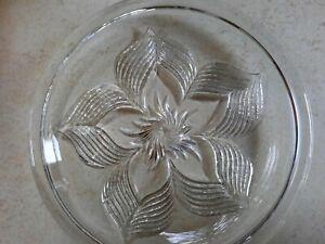 Sehr schöne Tortenplatte- Glas ca. 32 cm ca. 1970 sehr gut erhalten!