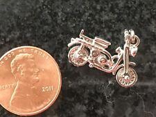 Motor Bike Souvenir For Bracelet Vintage Sterling Silver Charm Moped