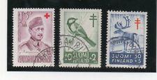Finlandia Valores de Cruz Roja y Pro Tuberculosos año 1952-57 (DM-324)