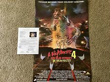 Nightmare On Elm Street 4 Cast Signed 22x34 Poster Englund Wilcox Hassel Theiss