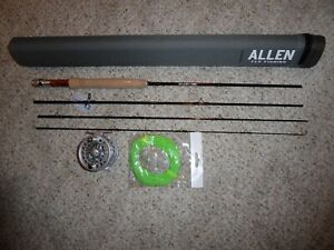 "Allen ""Heritage"" 7 1/2 ft Fly Rod, with Large Arbor Fly Reel and Fly Line"
