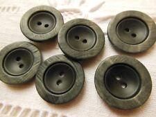 lot 6 boutons gris noir vintage diamètre: 2,2 cm BG mercerie couture