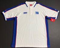 New York Giants NFL Mens Polo Shirt Multicolor Blue Short Sleeve XL New